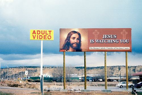 Jesus is watching you - Adult Videos - Is Jesus really watching you while you are in that booth watching adult movies????