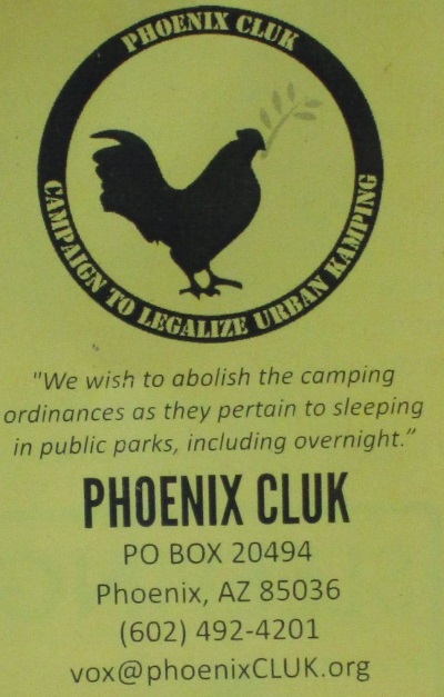Phoenix Campaign to Legalize Urban Camping - Phoenix Campaign to Legalize Urban Kamping